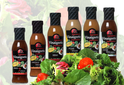 JC Japanese Vinaigrettes / Salad Dressings - 7 Spices, Sushi Ginger, Original, Miso, Sesame, Ginger & No Oil